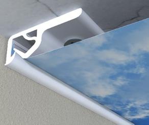 Spannsystem aus ALU, ABS, PVC